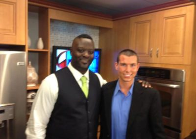 publicityMatt with Jarvis Green From Patriots